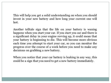 signs i need a new car battery signs you need a new car battery