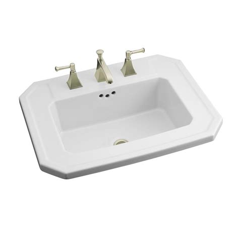 kohler drop in sinks kohler kathryn drop in vitreous china bathroom in