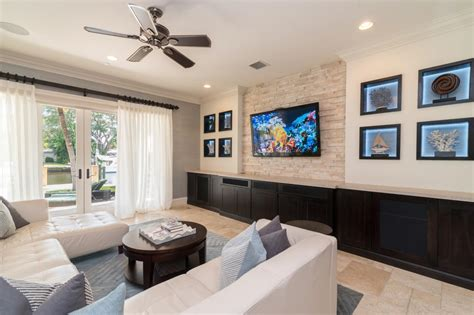 neutral modern living room with nautical theme hgtv