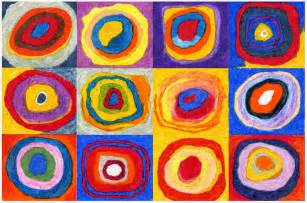 color study squares with concentric circles mla11 12duch3 other visual artists