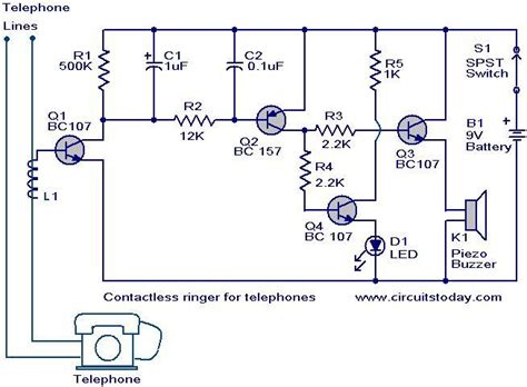 student yuva contactless telephone ringer circuit