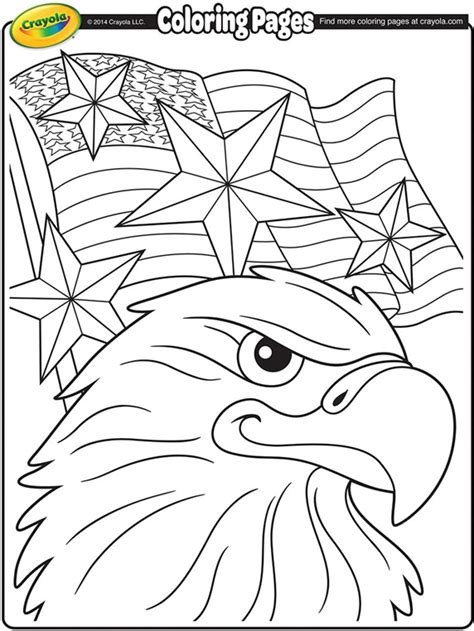 independence day coloring pages printable independence day eagle coloring page crayola com