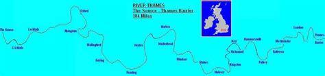 river thames map distances river thames thames path route guide
