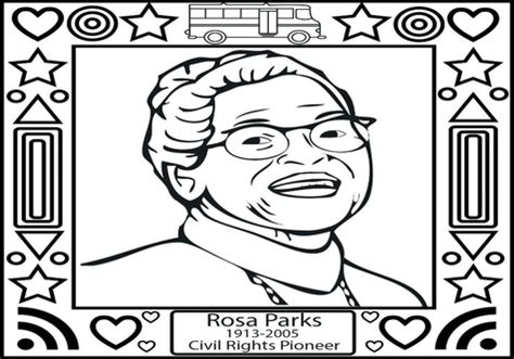 rosa parks coloring page rosa parks coloring sheet print out and color a picture of