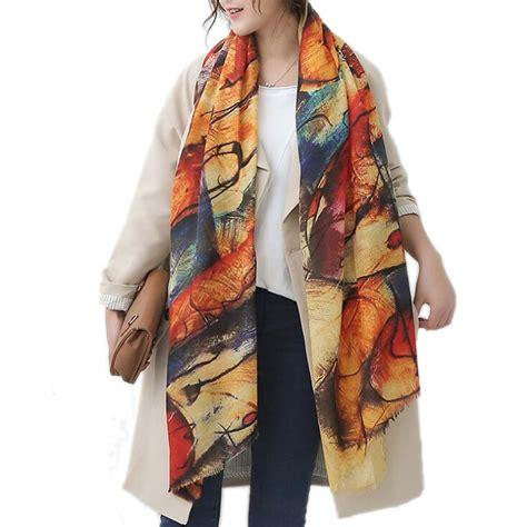 graffiti scarves autumn winter pashmina poncho