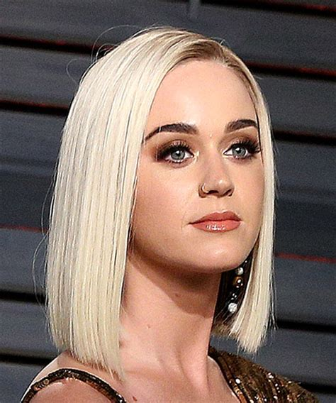 Katy Perry Medium Straight Formal Bob Hairstyle   Light