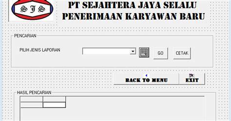 Cetak Undangan Java Kode Js 012 membuat form laporan program penerimaan karyawan baru di vb 6 0 hendri setiawan