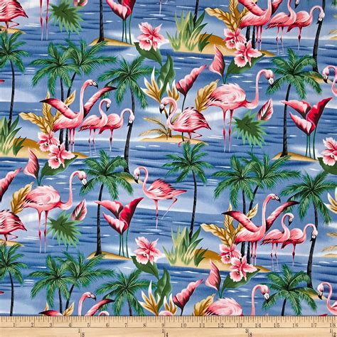 tropical fabric prints for upholstery hoffman tropical collection flamingo blue discount