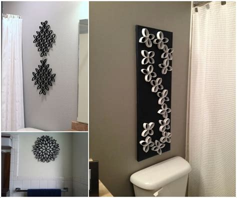 creative diy bathroom diy wall decor ideas 2018 dining