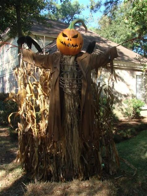Scarecrow Garden Decor Scary Pumpkin Scarecrow Pumpkins Pinterest Pumpkins The O Jays And
