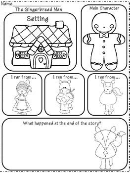 gingerbread man printable activities for preschool the gingerbread man emergent reader activities