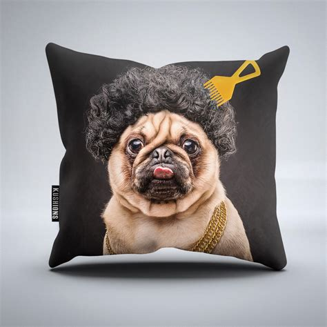 pug cushion uk afro pug throw cushion wehustle menswear womenswear hats mixtapes more