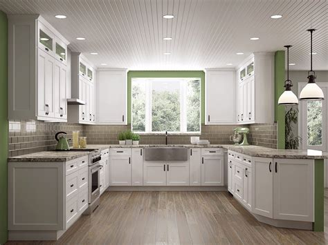 White Shaker Kitchen White Shaker Cabinets The Kitchen Design Trend