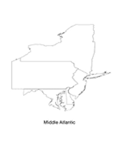 Mid Atlantic Outline Map by Mid Atlantic Printable Pre K 12th Grade Teachervision