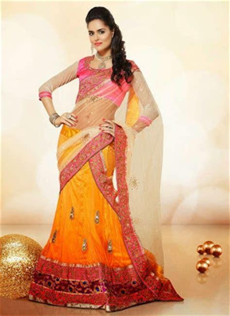 Lehenga Exclusive India 09 stylish exclusive indian wear lehenga choli saree designs new fashion collection 2014 15