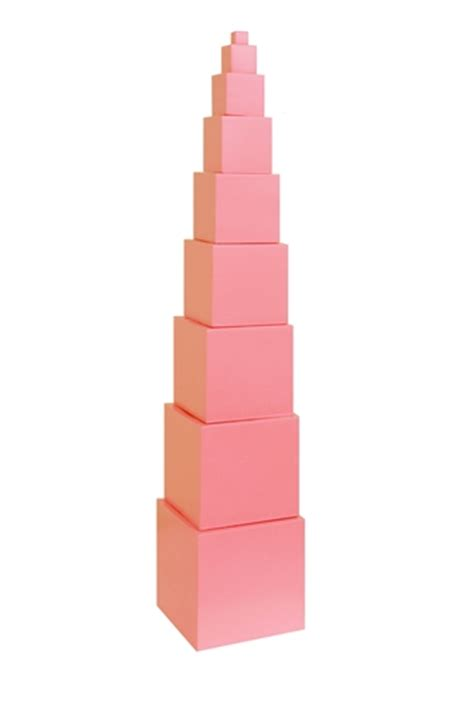 Pink Tower 1 montessori materials pink tower made in thailand