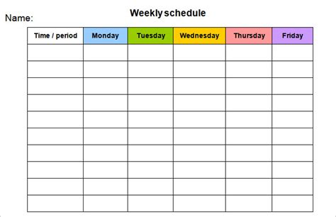 Week Calendar Template 8 Free Word Documents Download Free Premium Templates Free Monday Through Friday Calendar Template