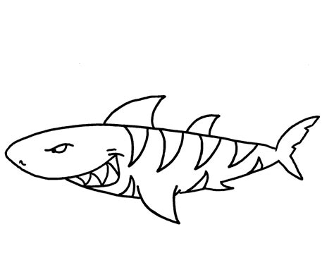 coloring pages sharks coloring home