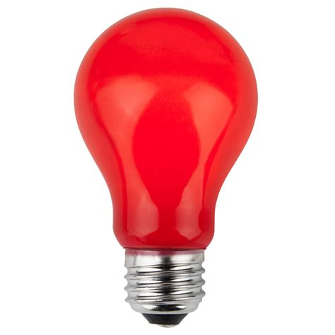 red light bulbs e26 party and sign bulbs a19 opaque red 25 watt