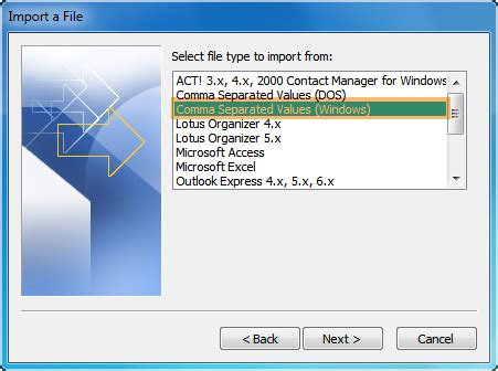 csv format address book how to import csv contacts to outlook