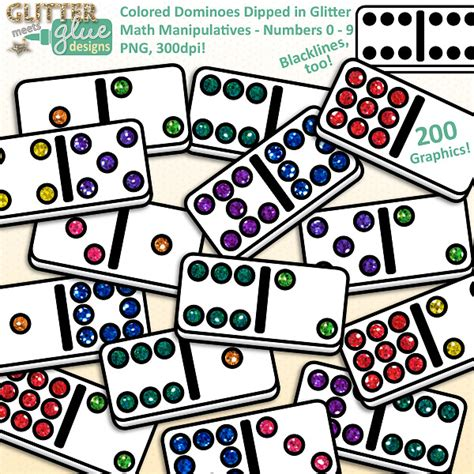 omino clipart colored dominoes clipart