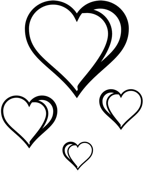 clipart heart coloring page heart vector art clipart best