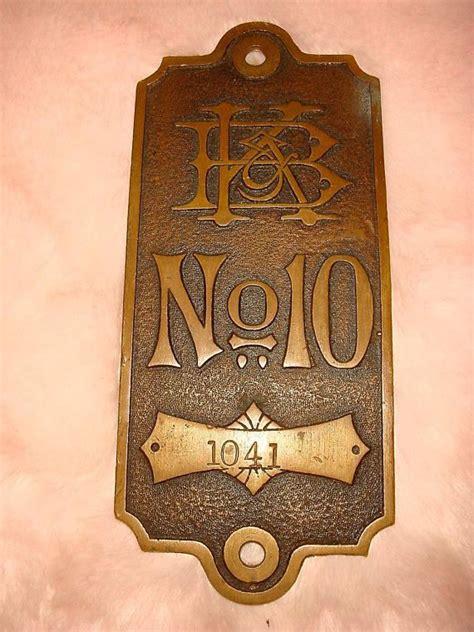 vintage hotel door number  antique metal vintage