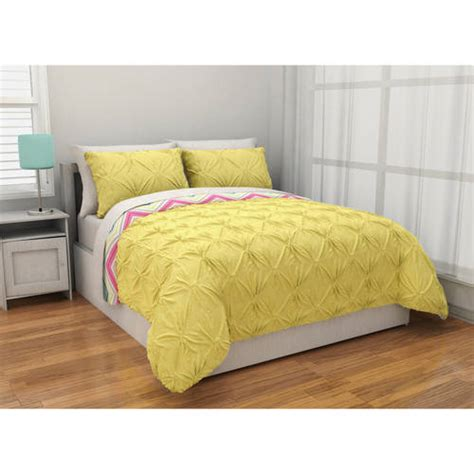 comforter yellow latitude pintuck comforter set reverse to chevron complete