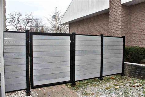 composite fencing ezfence composite board and aluminium structure