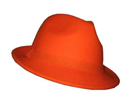 custom orange hats blaze orange or yellow wool fedora that way hat new