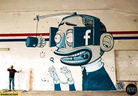 truth  facebook graffiti mural street art starecatcom