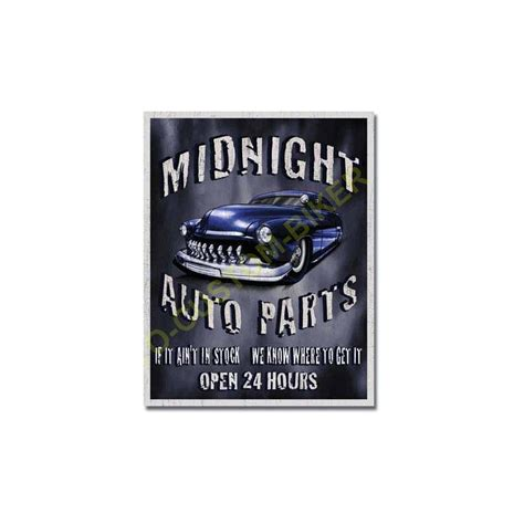 plaque metal decorative minight garage motocustombiker