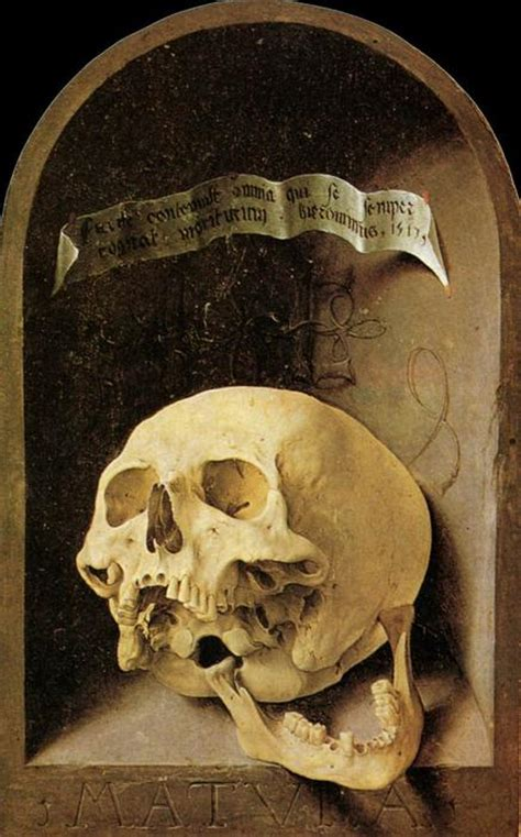 Skull L by Trompe L Oeil Skull By Jan Gossaert Mabuse 1478 1532