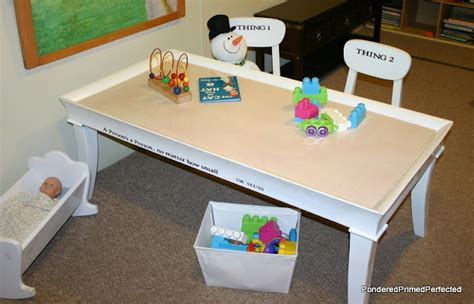 Diy Sensory Table by Coffee Table Turned Sensory Playroom Table Design Dazzle