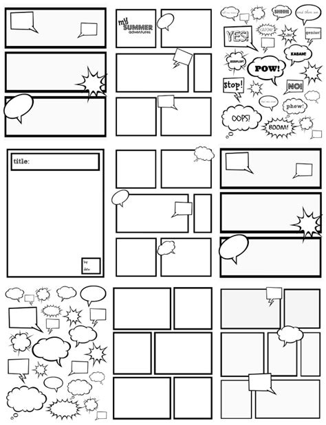 free printable comic template blank comic template quotes