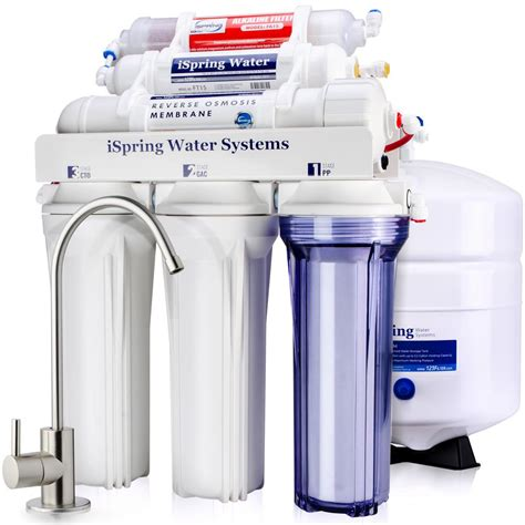 Sink Osmosis Water Filter System by Ispring Wqa Gold Seal 6 Stage With Alkaline Re M Filter
