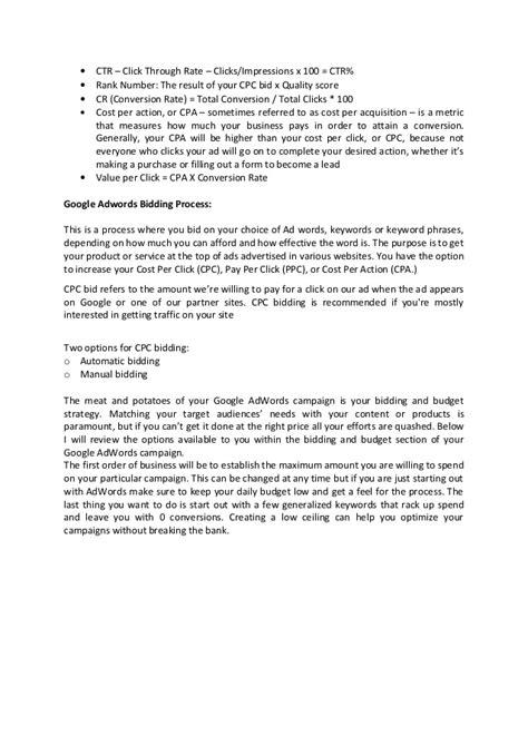 adwords bid adwords bidding process