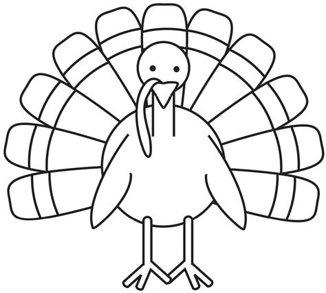 Coloring Pages Of Turkeys For Preschool | turkey coloring pages for preschoolers photo 4