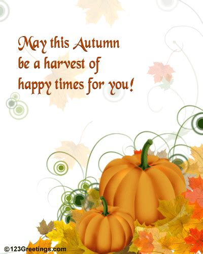 happy autumn wishes free happy autumn ecards greeting