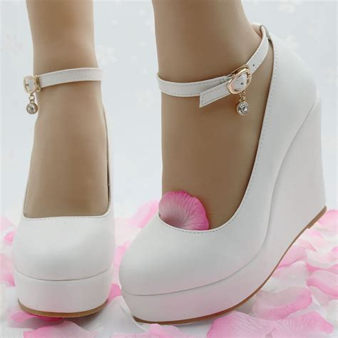high heeled wedges white wedges shoes wedges pumps for platform