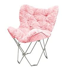 faux fur butterfly chair pink faux fur butterfly chair bed bath beyond