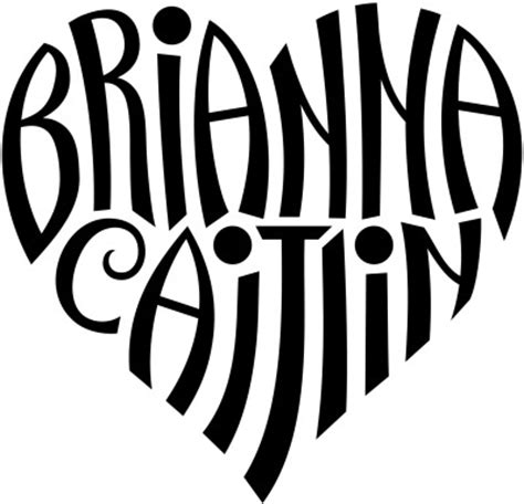 heartbeat name tattoo generator quot brianna quot quot caitlin quot heart design flickr photo sharing