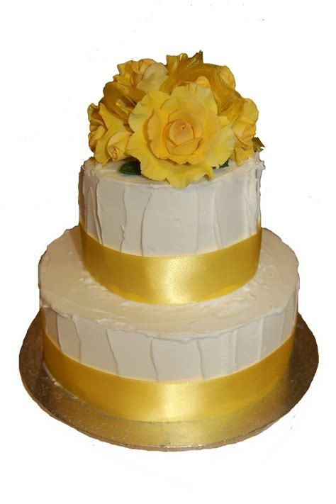 Wedding Cake Yellow Roses by Icing Wedding Cake With Yellow Roses Cakecentral