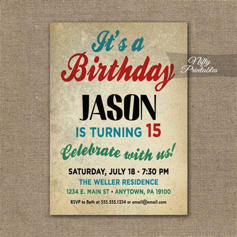 Teen Boys  Ee  Birthday Ee   Invitation Teen  Ee  Tween Ee   Invitations