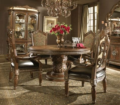 Mediterranean Dining Room Furniture Quot Michael Amini Quot Villa Valencia 5pc Dining Set Dining Sets By Ba Furniture Stores