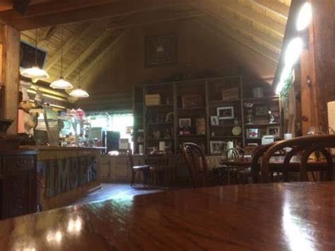 Log Cabin Restaurant by Interior View Of Counter And Decor Wall Picture Of