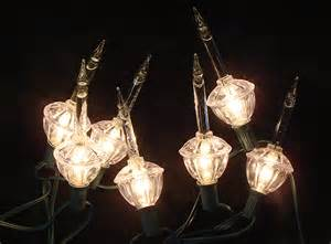 bubbling lights set of 7 clear retro lights with silver