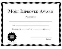 Most Improved Certificate Template by Free Printable Most Improved Awards Certificates Templates