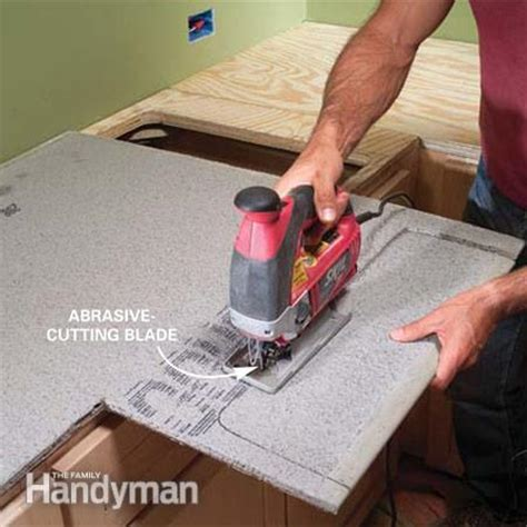 Cement Board Countertop by Installing Tile Countertops The Family Handyman