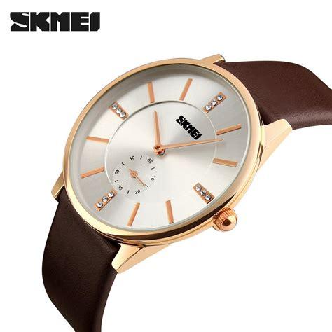 Jam Tangan Rolex Cowok skmei jam tangan analog pria 1168cl brown gold jakartanotebook